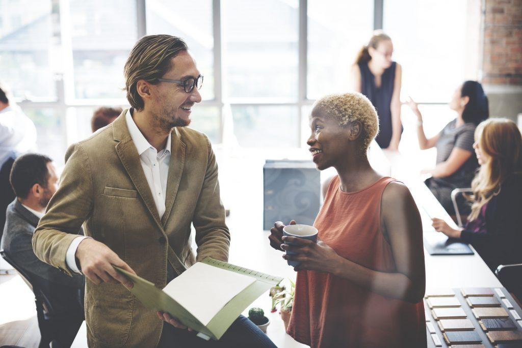 Collaboration Communication Conversation Coworker Concept